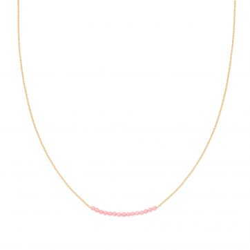 Ketting Happy Beads Goud Roze