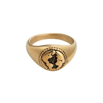 Ring Sketch Of The World Gold