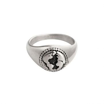 Ring Sketch Of The World Silver